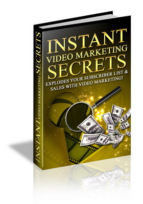 Product picture Instant video marketing secerts